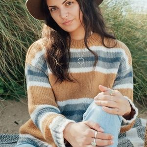 NWT Rip Curl 'Cosy Outdoors' Stripe Knit Sweater M